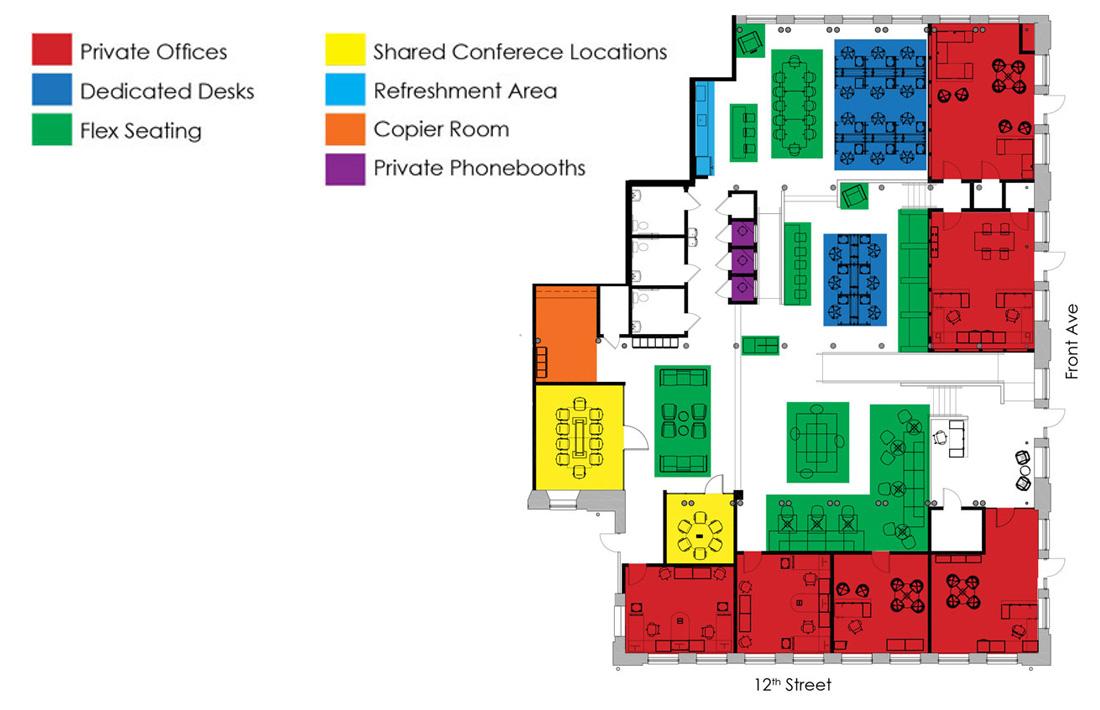CoWork Columbus layout blueprint