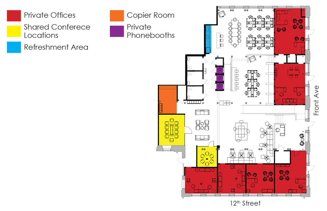 CoWork Columbus floorplan blueprint